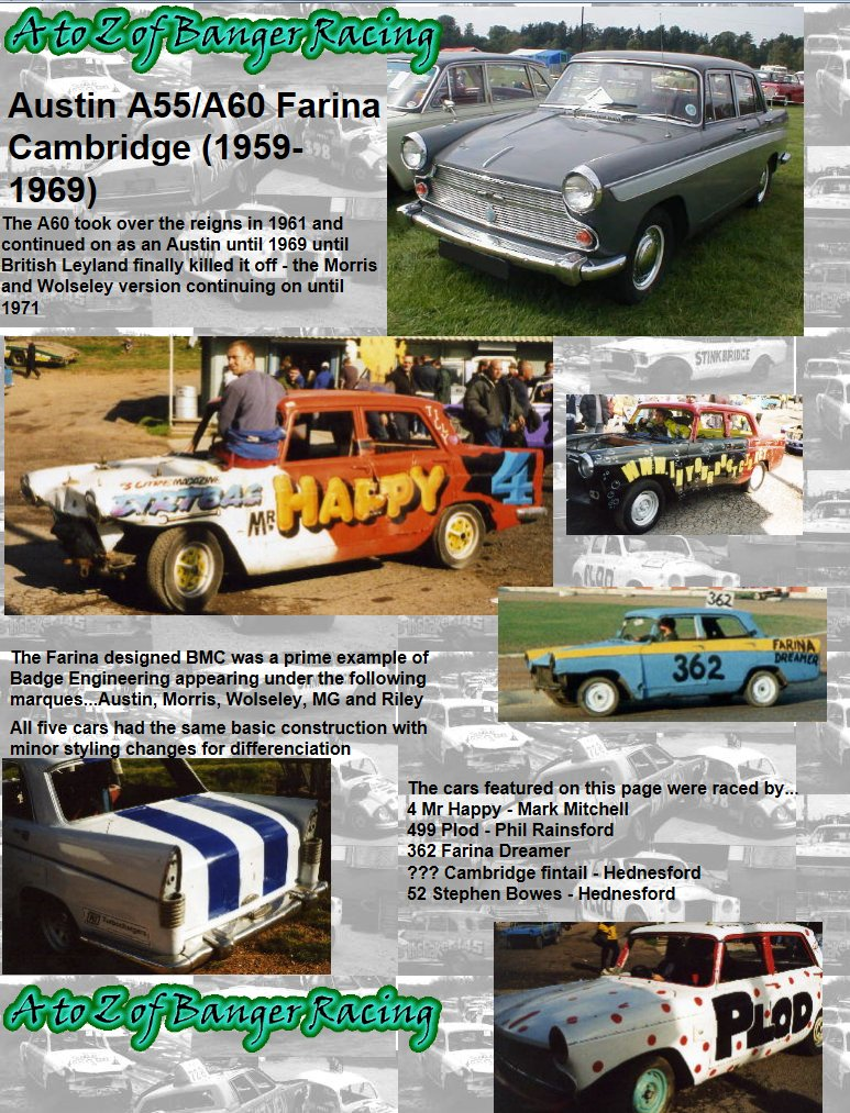 Austin A To Z Of Banger Racing